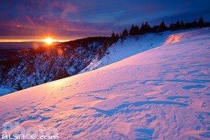 Lever de soleil en hiver depuis les Hautes-Chaumes